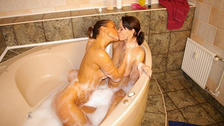 Kinky lesbians getting wetter and wet