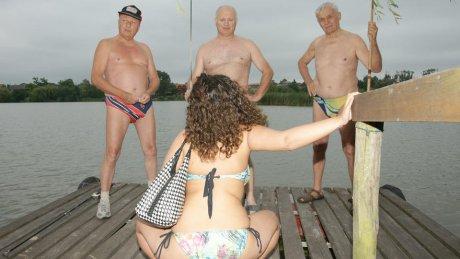 Kinky teen doing three old geezers