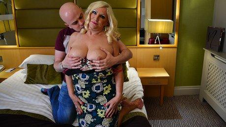 Horny British Milf sucks and fucks her lover
