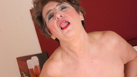This horny mature slut will show you everything and more