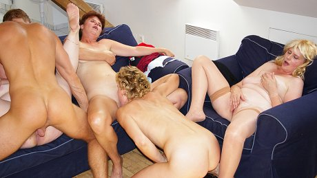 These horny sluts love to share one cock