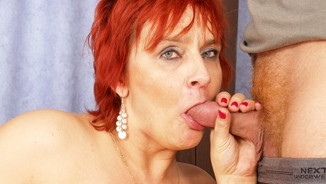 Feed her cock and mommy goes wild