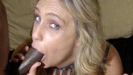 This blonde mama needs black cocks