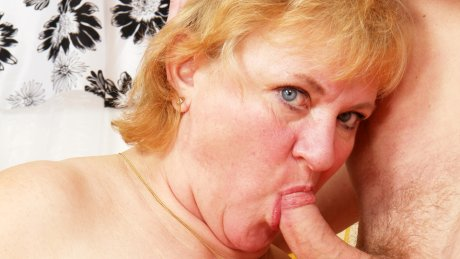 Mama loves fucking and sucking her boy toy