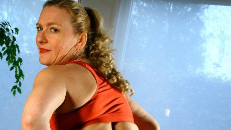 Horny housewife riding a cucumber