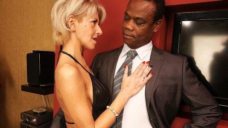 Hot MILF loving hardcore interracial sex