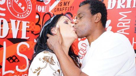 Horny housewife fucking and sucking her black boyfriend