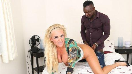 Kinky blonde Milf get fucked in the ass by her black boyfriend