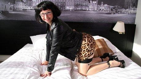 Naughty Dutch housewife getting frisky