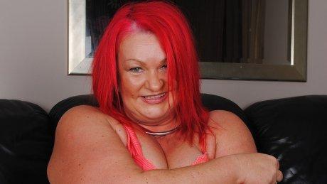 Kinky big mature redhead pleasing herself