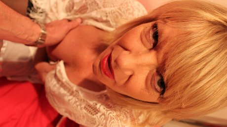 Naughty British housewife Amy sucking in POV style